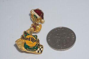 "Hard Rock Cafe -Vintage HRC Bangkok ""Christmas '95 Gem Guitar with Santa Hat Pin"