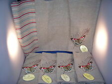 Placemats and Napkins set of 4 Grey Fabric with Colorful Butterfly Design 5