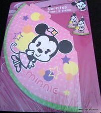 Minnie Mouse Cuties Party Supplies HATS Birthday Decoration Favors Pink 12 Baby