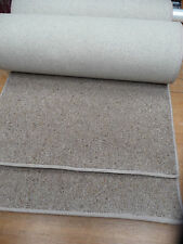 TWO WOOL carpet runners (stairs?) 114 x 22 inches each (289 x 55cm) BROWN  #1823