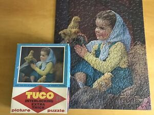 Puzzle Tuco Vintage 4905 Interlocking Picture Jigsaw Girl Cute Chicks 300+ Pc R1