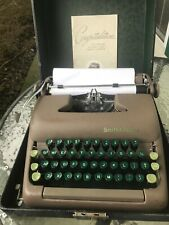 Smith-Corona Sterling typewriter w/case & ribbon. Cleaned. With Manual & Key