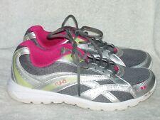 Women's Genuine Leather & Fabric Tennis Shoes by Ryka Memory Foam- Sz 8 M