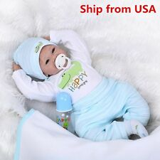 22'' Handmade Lifelike Baby Reborn Boy Girl Dolls Silicone Vinyl Doll+Clothes