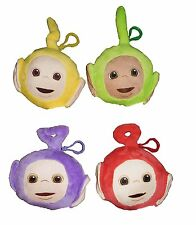NEW Teletubbies Plush Keychains Set of 4 Laa Laa DIpsy Po TInky WInky NWT