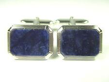 925 Sterling Silber Manschettenknöpfe Lapislazuli Vintage silver cufflinks e85 N
