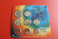 * Spagna Euro KMS 2000 blister/* 1 cent a 2 EURO