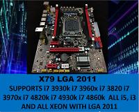 **SALE** Intel X79 Motherboard LGA 2011 mATX DDR3 WITH i7/xeon 4 SLOTS MEMORY