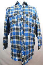 Mens Berner Plaid Check Casual Long Sleeve Durable Quilted Work Shirt Size M - L
