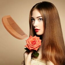 Natural Wide Tooth Wood Comb Peach no-static Massage Hair Health Comb WC