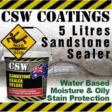 5L Sandstone Sealer - Moisture & Oily Stain Protection - Non Slip - Water Based