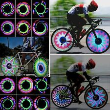 Bike Bicycle Wheel Tyre Light Tire Spoke 32 Changes LED Lights Flashing Lamp NEW