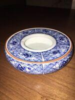 Beautiful Handpainted Japanese Porcelain AshtrayBlue/White Marked