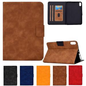 For Apple iPad Mini 6th Gen 10.2 2021/2020 Case Retro PU Leather Card Slot Cover