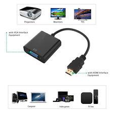 HDMI Male à VGA RGB Female Audio HD Video Câble Converter Adapter 1080P Pour PC