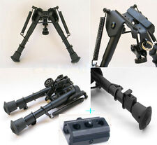 "Tactical 6"" - 9"" Harris Style Bipod Adjustable W/Picatinny Rail Mount Adaptor *"