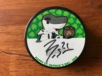 Ben Smith San Jose Sharks Signed/Autographed Hockey Puck 2015 St Patrick's Day