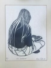 Rare 1968 Bruce Carter Wood Block Print Number 8 of Only 25 Made