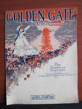 Golden Gate (Open for Me) - 1919 sheet music - Piano Vocal - Kendis and Brockman