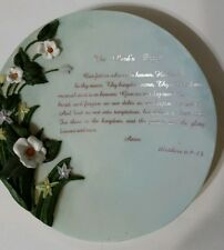 Youngs inc. Collectible plate The Lord's Prayer