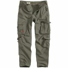 """Surplus Raw Vintage Airborne Slim Fit Combat Cargo Trousers Army Military Pants 36"""" (l) Olive Green"""