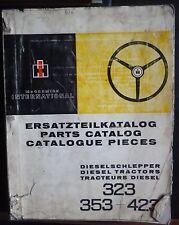 IHC Schlepper 323 + 353 + 423 Ersatzteilkatalog