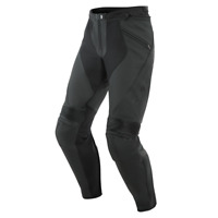 New Dainese Pony 3 Perforated Leather Pants Men's EU 58 Black #155371207658