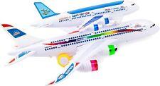 A380 Bump & Go Aeroplane Flashing Led Light Music Toy double plane
