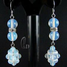 Handmade Moonstone Drop/Dangle Sterling Silver Fine Earrings