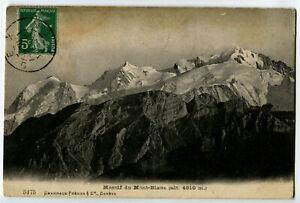 CPA 74 Haute-Savoie Massif du Mont-Blanc