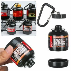 Mini Portable Protein Powder Bottle With Keychain Outdoor Sport Water Cup Bottle