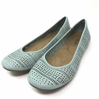 NEW! Croft & Barrow Women's Pattie Chop-Out Ballet Flats Lite Blue Size:6* 155S