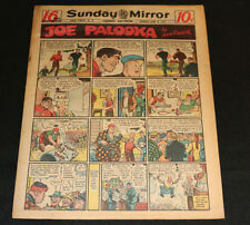 1947 Sunday Mirror Weekly Comic Section June 8th (F+) Superman Boat Action
