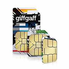 Prepaid sim card giffgaff uk £ 5 balance free uk shipping normal sim giff gaff.