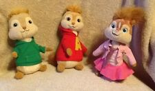THE CHIPMUNKS ALVIN BRITTANY THEODORE TY BEANIE BABIES LOT OF 3 BEANBAG PLUSH