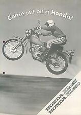 Honda XL 125 250 Prospekt 1976 brochure Broschüre Motorrad Asien Japan moto bike