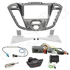Ford Transit Tourneo Custom Doppel 2-DIN Blende silber+ JVC Lenkradinterface Set
