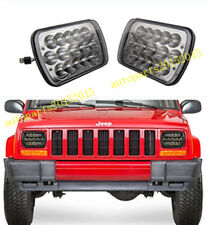 New LED Black Headlights For 1986-1995 Jeep Wrangler 1984-2001 Cherokee  1 PAIR