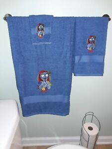 "Nightmare before christmas ""Sally"" bathroom towel set (blue)"