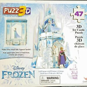 Frozen 3D Elsa Hologram Ice Castle Puzzle 47 Pcs 12 in Tall Ages 3+ New Sealed