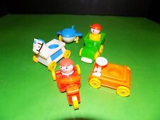 VINTAGE Fisher Price Nursery ride on toys airplane train plus people