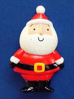 Hallmark PIN Christmas Vintage SANTA Claus STANDING GLITTER Holiday Brooch