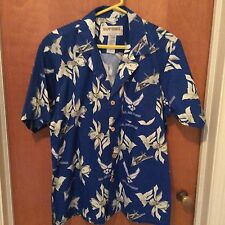 US Air Force Hawaiian Aloha Tropical Sz L Kamp Shirt USAF Jets Stealth Pilot