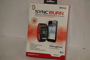 Sportline Syncburn Activity 24 Hour Calorie Burn Tracker Black / Red