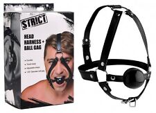 Strict - Gesichtsmaske, Harness, verstellbares Kopfgeschirr mit Ball Gag 4,45 cm