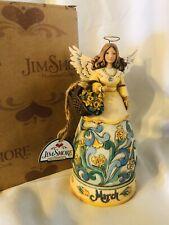 New Jim Shore 4012552 March Angel Figurine 2008 w/ Box w/ Tags