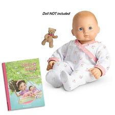 "American Girl BITTY BABY  BEAR AND COZY CUDDLY SLEEPER W/ BOOK for 15"" Dolls"