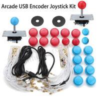 Arcade DIY Kits Parts 2 USB Encoder + 2 Joystick + 20Pcs Buttons For PC MAME  ❤