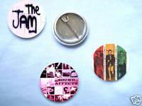 The Jam-Set Of 3 Badges Mods Paul Weller Oasis