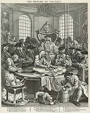Hogarth Print Reproductions: The Reward of Cruelty - Plate 4: Fine Art Print